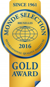 Monde Selection - Gold Quality Award 2016
