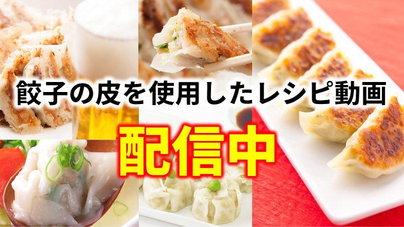 餃子の皮を使用したレシピ動画