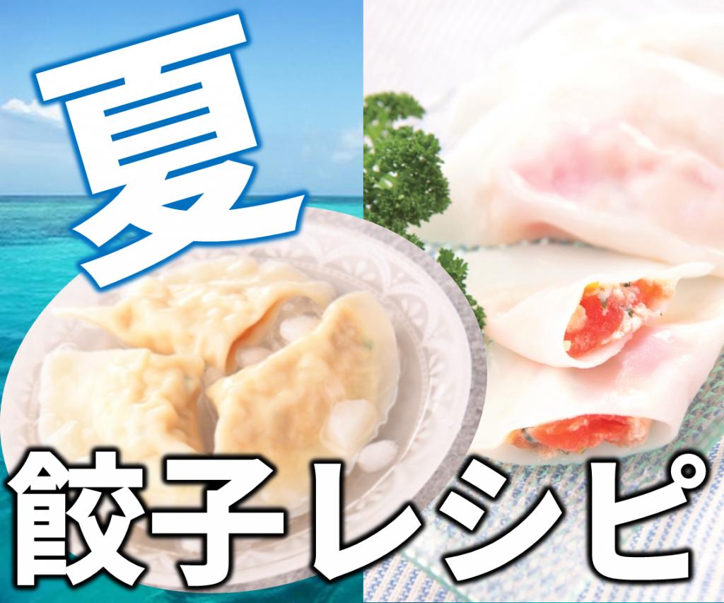 夏 餃子の皮レシピ